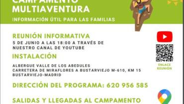 REUNIÓN INFORMATIVA 5 DE JUNIO A LAS 18:00 A TRAVÉS DENUESTRO CANAL DE YOUTUBE